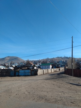 View of a Ger community outside Tsetserleg, Mongolia